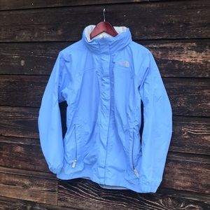 Powder Blue, The North Face Jacket, Girls XL